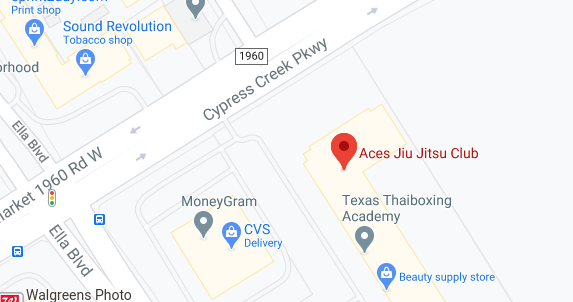 Aces Jiu Jitsu Club Spring Houston Texas Map Pic