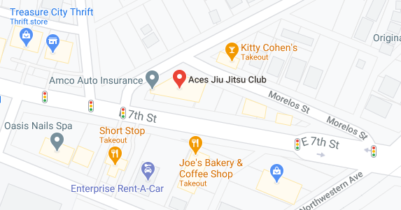 Aces Jiu Jitsu Club Downtown Austin Texas Map Pic